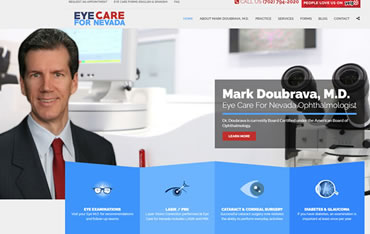 EyeCareForNevada.com - WebsiteCenter.com Website Design Portfolio
