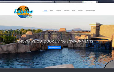 Las Vegas Website Design and Web Hosting Client:  Laguna Pool and Spa - Pool Construction and Design