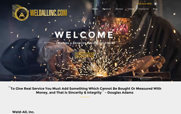 Website Design, Web Hosting and Website Management Client:  WeldAllInc.com - Welding services e.g. Carports, Wrought Iron, Stair Treads, Security, Electrical and Trash Gates