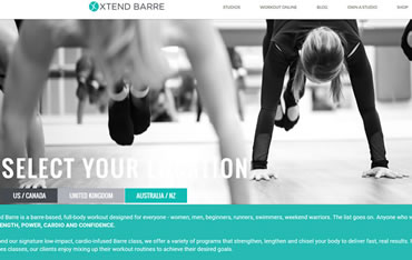 Las Vegas Website Design, Web Hosting and Website Management Client:  XtendBarre.com - Pilates Workout